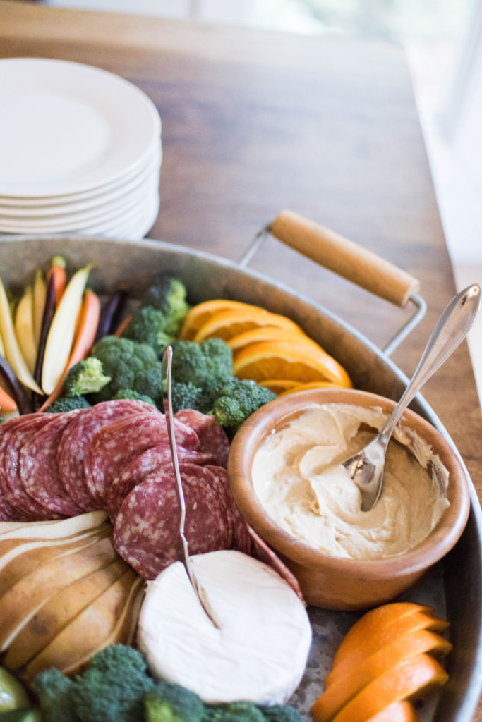 Crudite Snack Platter to serve at parties