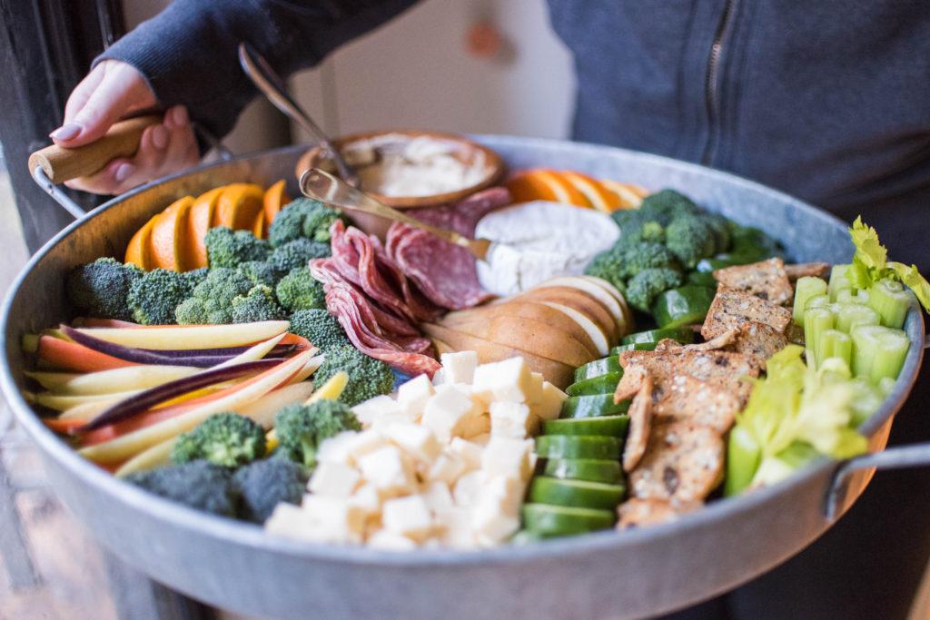Superbowl snack idea: crudite platter