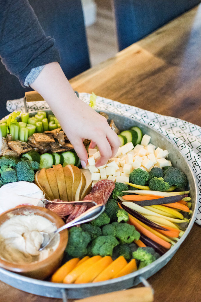 How to make a crudite snack platter