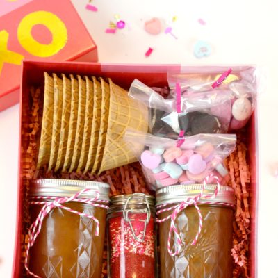 Ice Cream Sundae in a Box Valentine Gift