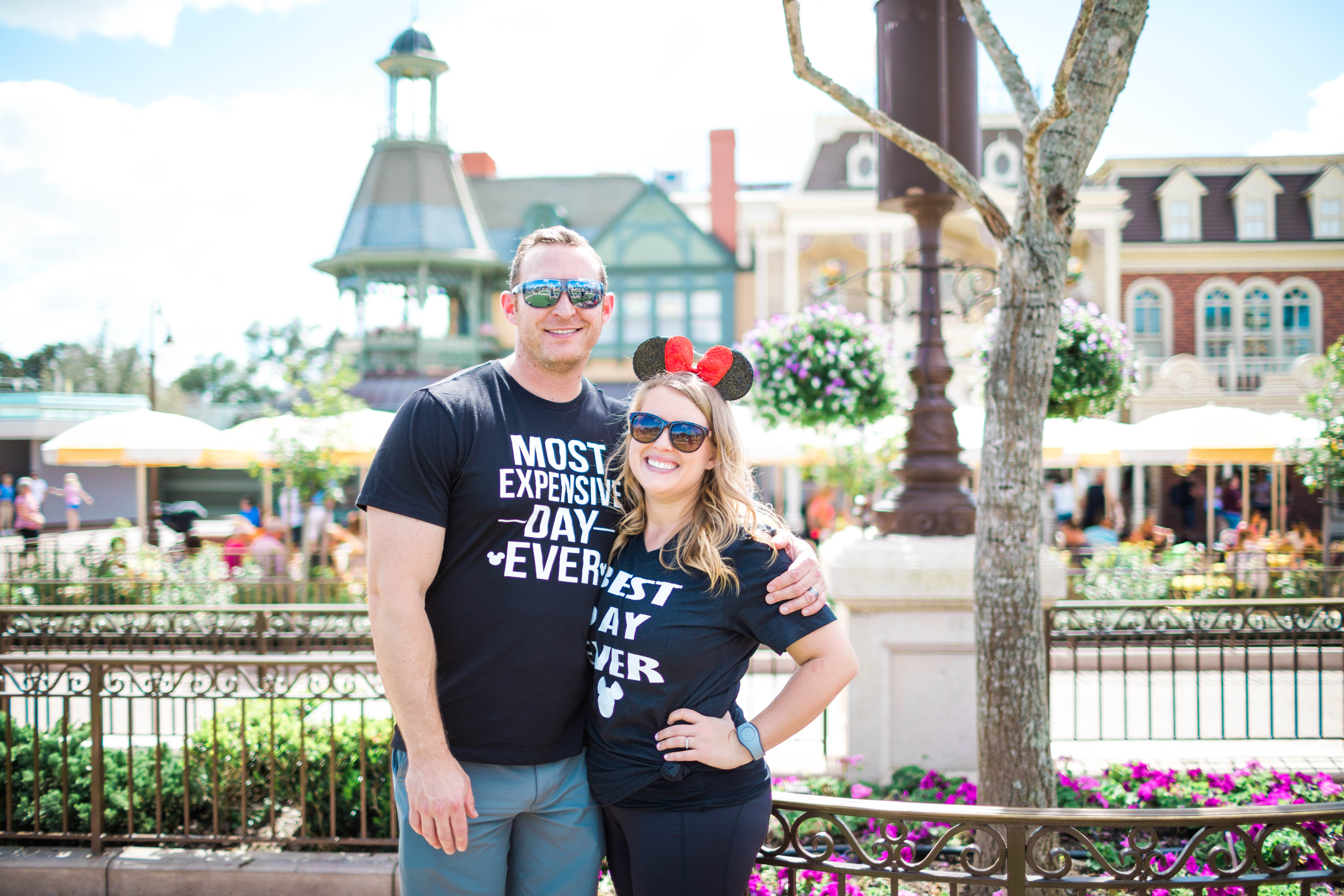 Picture of me and my husband at Disney World