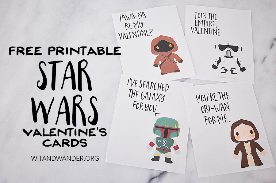Star Wars themed Valentines Day Card