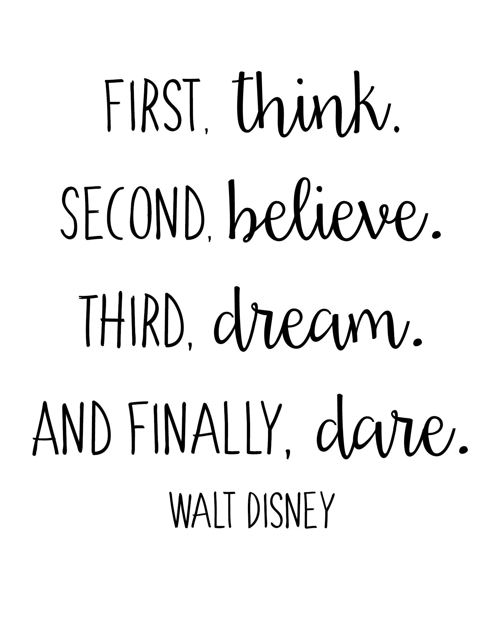 Free Walt Disney Quote Printables