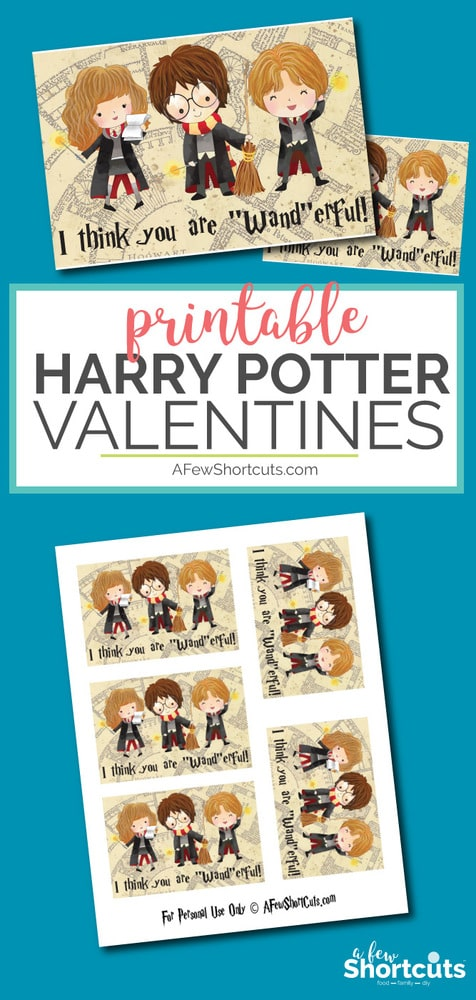 DIY Harry Potter Valentines Day Printable