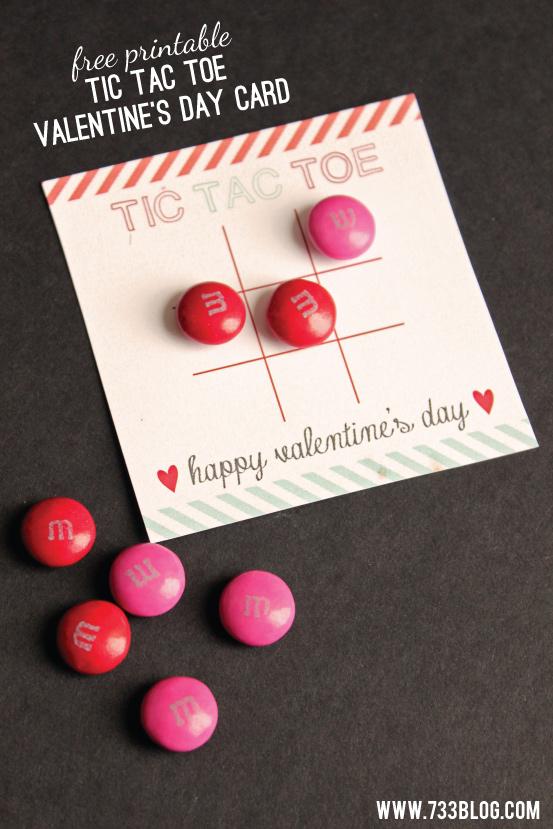 Tic Tac To Valentine Card Printable