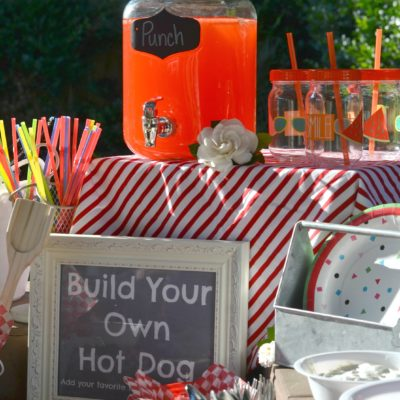 Build Your Own Hot Dog Bar Grillout