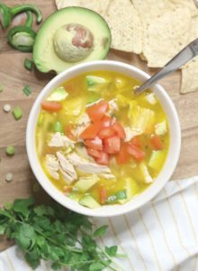 Mexican Chicken Soup with Avocado