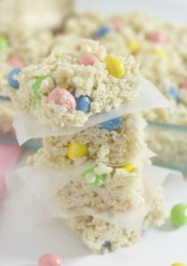 Easter Reese's Pieces Eggs Rice Krispie Treats
