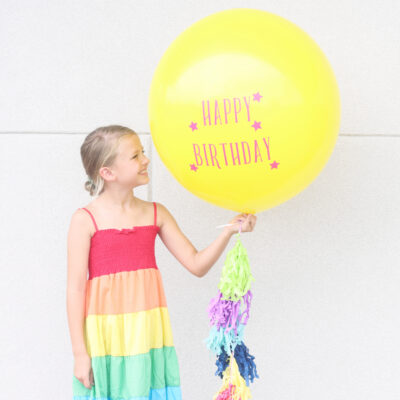 DIY Vinyl Balloon Signs with the Cricut Maker