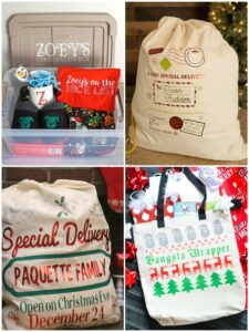 Personalized Santa Bags and Boxes
