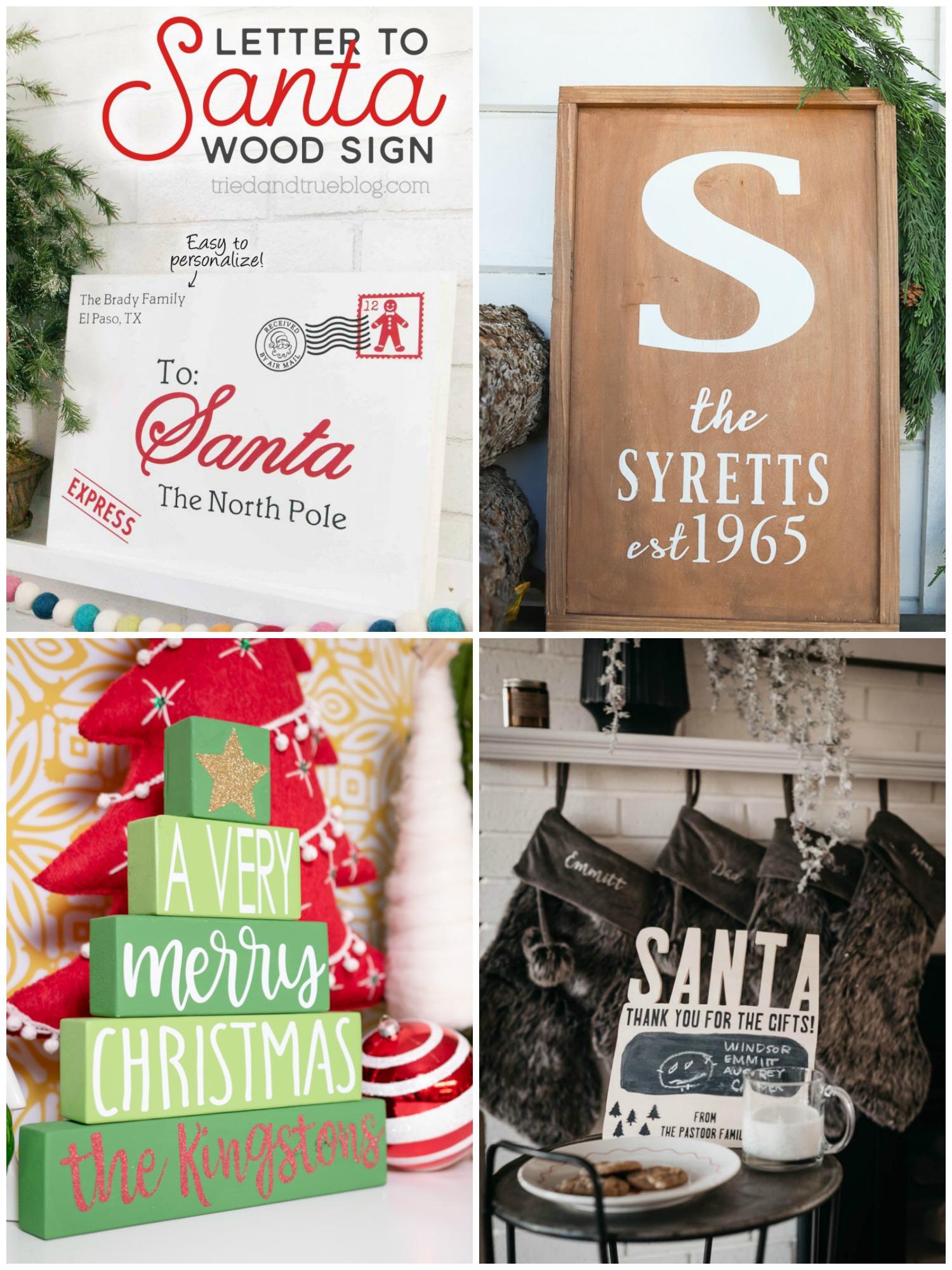 Homemade Merry Christmas Signs