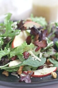 Green Salad with Apples and Apple Cider Dressing