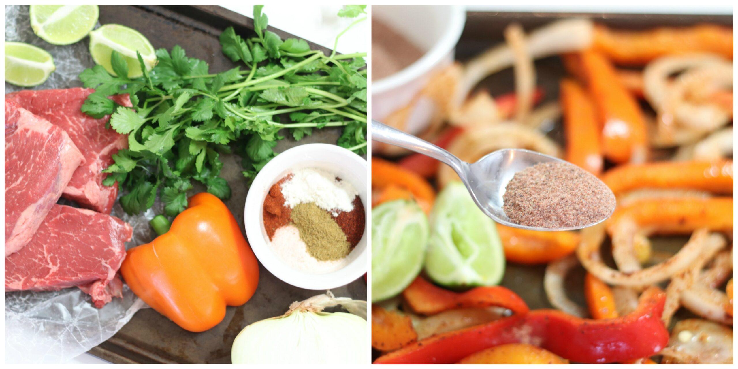 Sheet Pan Fajitas Ingredients