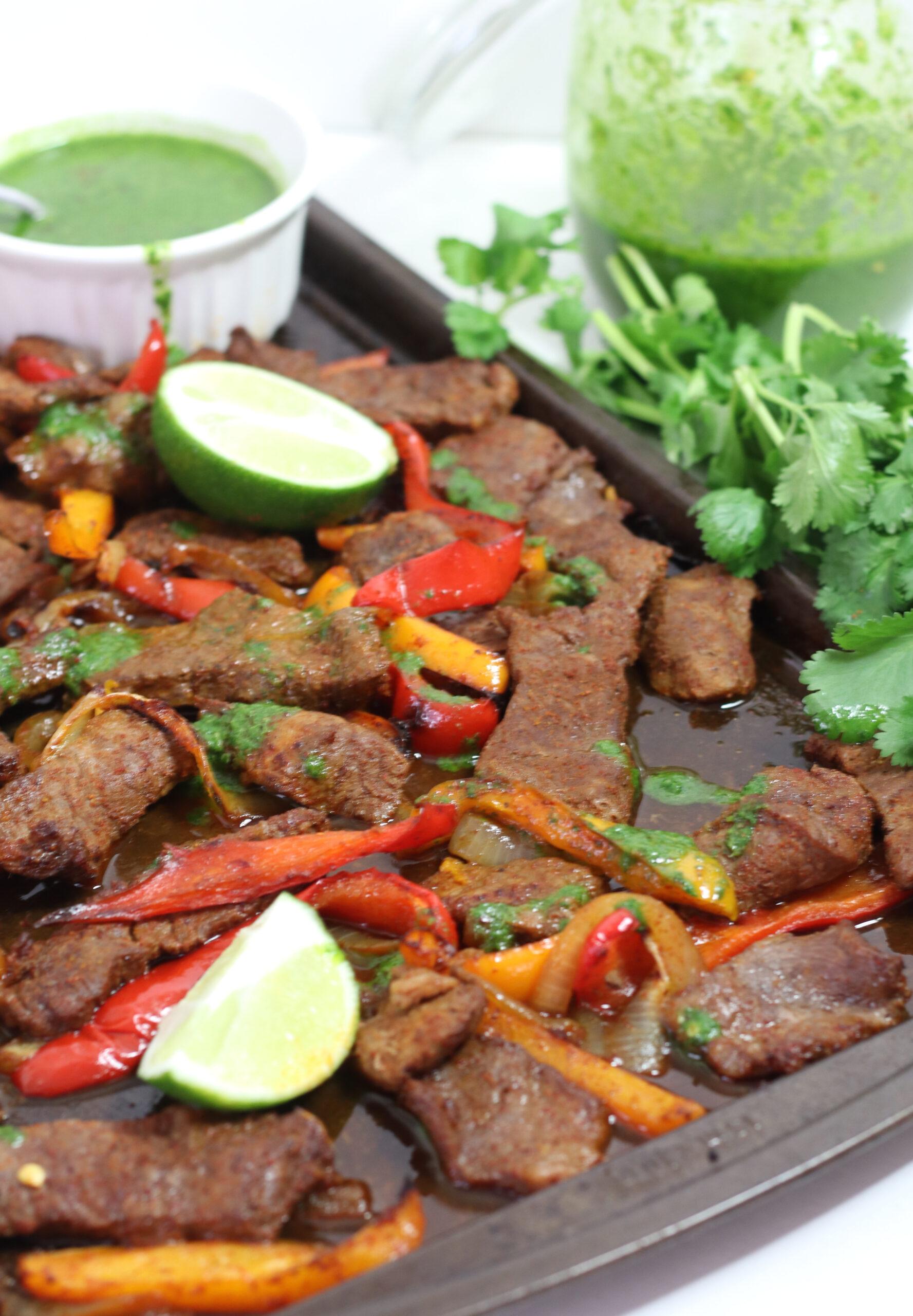 Sheet Pan Beef Fajitas