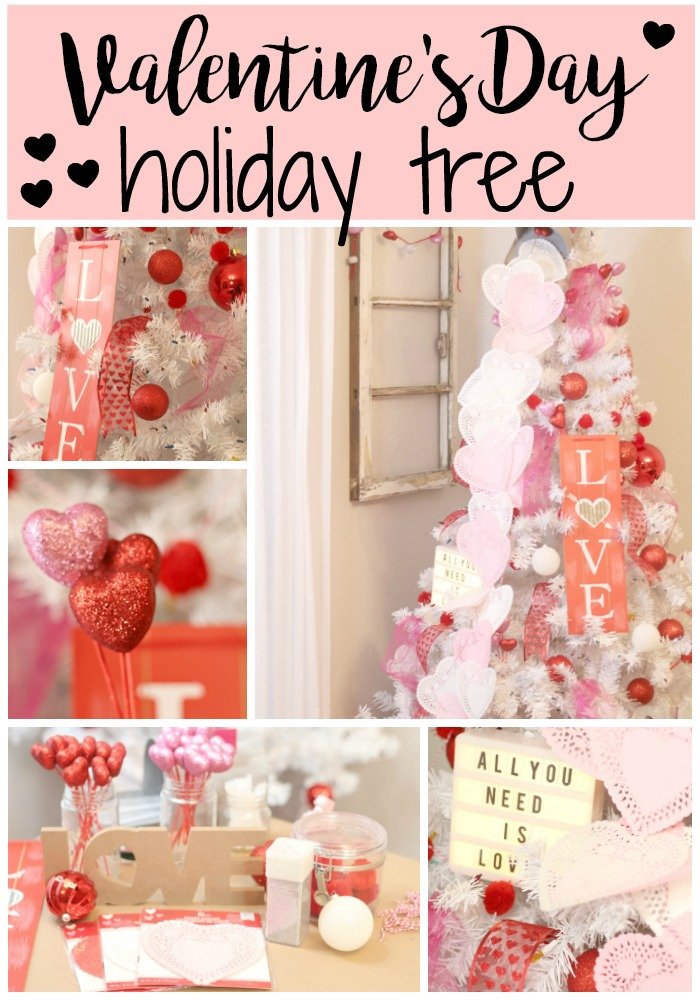 Valentine's Day Holiday Tree