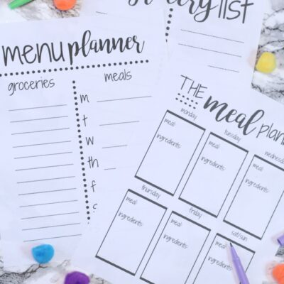 FREE Weekly Meal Planning Templates w/Grocery List