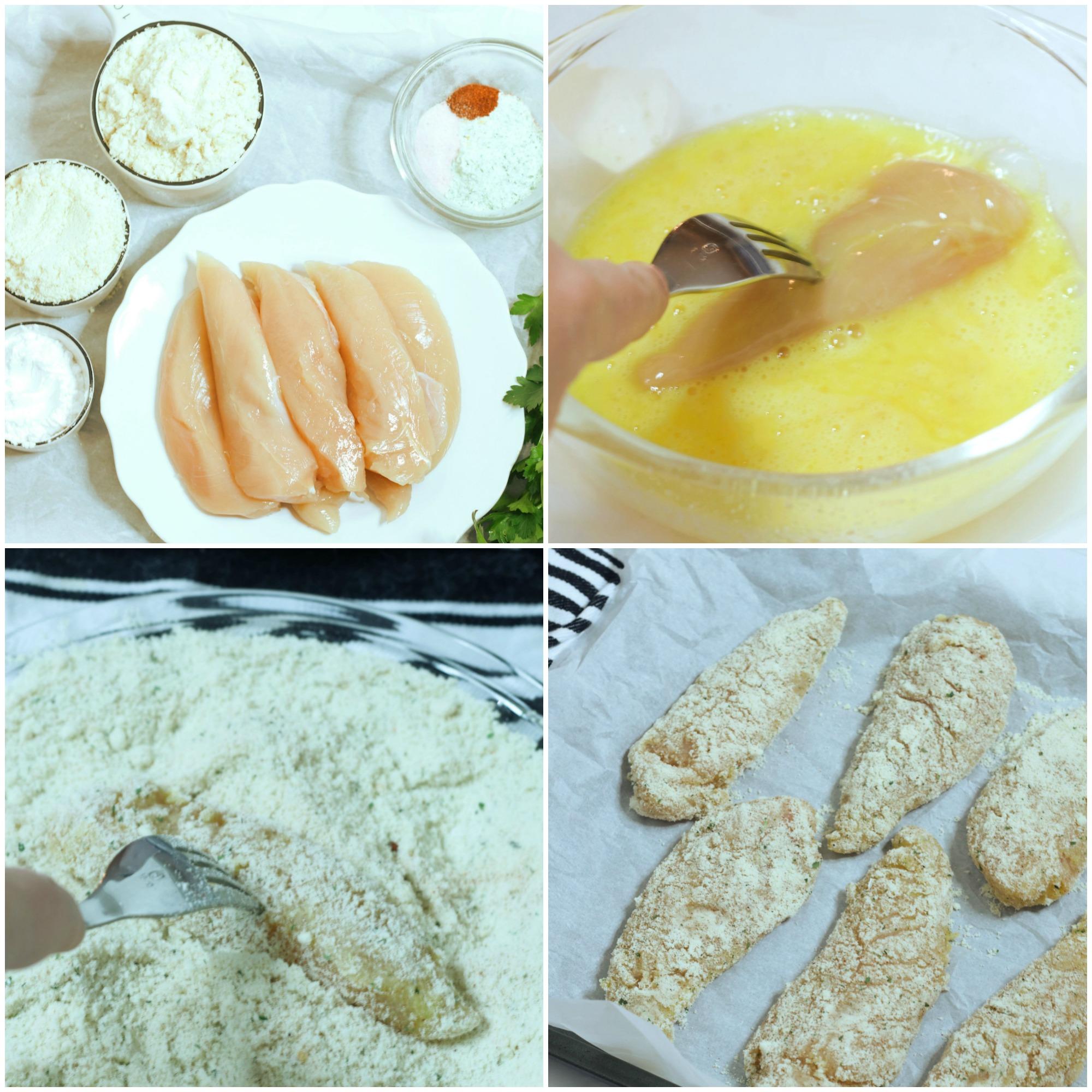 Gluten Free Chicken Strips- Step by Step Process