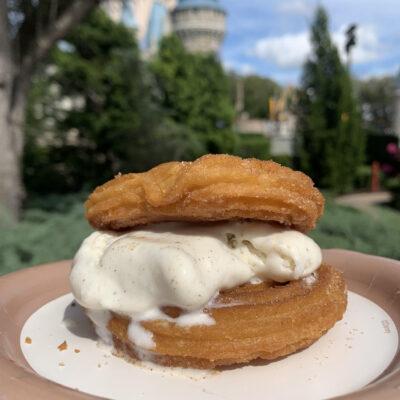 Copycat Disney Churro Ice Cream Sandwich